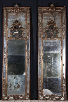 Pair of mid 18th century florentine mirrors