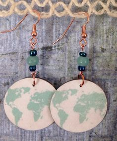 A personal favorite from my Etsy shop https://www.etsy.com/listing/271220813/up-cycled-globe-earrings-earth-earrings