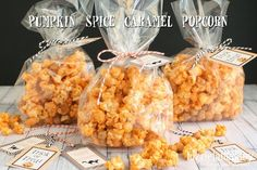 LizzieJane Baby: Pumpkin Spice Caramel Popcorn