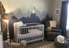 Image result for mountain mural nursery