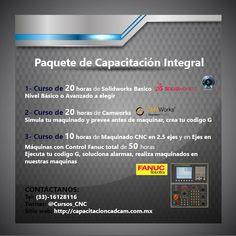Curos completo CAD CAM CNC en Guadalajara Jalisco, Solidworks, CamWorks y Practicas CNC