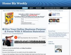 """Here's my latest blog, HomeBizWeekly.com -  it supports a weekly newsletter and podcast offering free tips and advice for home-based online-business owners... Take a moment to ** like ** it if you do, and download our free report, """"An Insider's Guide To Working At Home On The Internet."""" :)"""