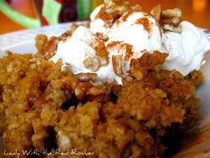 Pumpkin Baked Oatmeal - I shall call it YUM-kin Baked Oatmeal:)