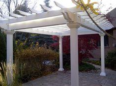Maintenance free pergola. Landscape Design, Pergola, Landscapes, Outdoor Structures, Free, Paisajes, Landscape Designs, Arbors, Scenery