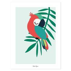 Deco Jungle, Little Birds, Bird Art, Wall Stickers, Vinyl Decals, Wall Decals, Wall Art, Cute Drawings, Parrot