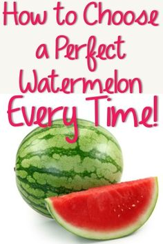 How to Pick a Perfect Watermelon Every Time! How to Pick a Perfect Watermelon Every Time! Healthy Snacks, Healthy Eating, Healthy Recipes, Fruit Recipes, Cooking Recipes, Jai Faim, Good Food, Yummy Food, It Goes On