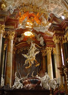 Rohr Altar, A masterwork by the Asam brothers Architecture Baroque, Church Architecture, Ancient Architecture, Beautiful Architecture, Beautiful Buildings, Architecture Religieuse, Renaissance Kunst, Baroque Art, Catholic Art