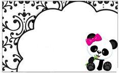 Profesor Tati Simões: Kit Panda negro, blanco y rosa - Bebidas Para Adelgazar Recetas chica con vodka decoracion fiesta frases manualidades mujer para imprimir reales ricolino tatuajes Panda Icon, Panda Names, Panda Birthday, Panda Party, Baby Shower Princess, Kit, Alice, Crafty, Crescendo