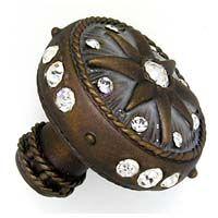 Magellan Knob $32.67 http://www.knobs.co/knobs/magellan-knob-_ANN-7216.php  #knob #pewter #rhinestone