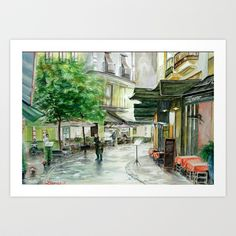 Buy French Street Scene by Steve James as a high quality Art Print. Worldwide shipping available at Society6.com. Just one of millions of products…