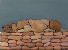 Doğal Taşları Döşereyerek Hayvan Figürleri Yapmak (11) - Doğal taşlar, doğal taş evler ve doğal taş ocakları