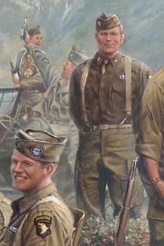 Military Art, Military History, Military Uniforms, Military Drawings, Army National Guard, Usmc, Marines, Band Of Brothers, Pulp Art