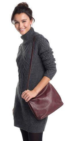 Die coole braune Umhängetasche in Leder-Optik von Esprit peppt jedes Outfit auf. Mit dieser Tasche ist man perfekt ausgestattet und in ihr finden alle wichtigen Dinge ihren Platz <3 ab 39,99€ Turtle Neck, Sweaters, Bags, Fashion, Do Your Thing, Handbags, Get Tan, Leather, Woman