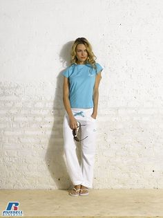Russell Athletic Summer 2013 Ladies Collection #Russell #Athletic  #Russellbrands #Authentic #American #SportsWear #Apparel #Summer  #Collection #Sports #Wear #Sweatshirt #Womanswear Russell Athletic, Summer Collection, Sportswear, Khaki Pants, Normcore, American, Sweatshirts, Lady, How To Wear