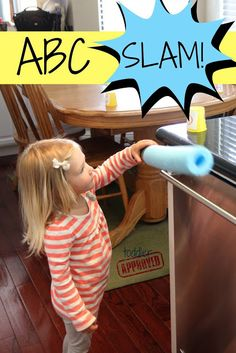 Fun, hands-on game that helps preschoolers practice letters. {Toddler Approved!}