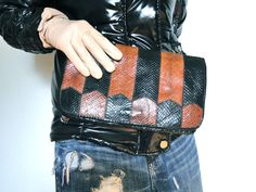 Vintage Clutch late 70' in snake's leather  28x17 cm - 40€ -