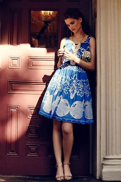 Azure Lace Dress - anthropologie.com