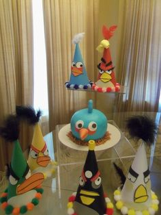Angry Birds / Birthday Hats I could do this!#Repin By:Pinterest++ for iPad#