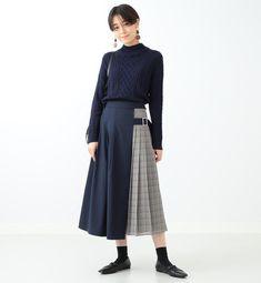 110-110180023290003-2-b2 Long Skirt Fashion, Women's Fashion Dresses, Hijab Fashion, Girl Fashion, Womens Fashion, Fashion Design, Korea Fashion, Japan Fashion, Korean Winter Outfits