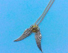 Harry Potter Golden Snitch inspired necklace by PetalcraftArt
