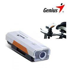 Genius  DVR-GPS300 Cámara De Acción Deportiva - GPS Grabadora de bicicletas y del vehículo del registrador. El genius DVR-GPS300 es ideal para bicicleta y coche que le permite compartir sus grabaciones con la hoja de registro de datos Google.