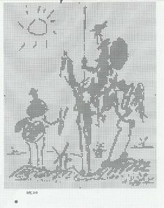 A Counted Cross Stitch Chart Don Quixote