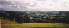 Panoramic shot of Forth, Tasmania, 1997.