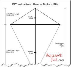 DIY Kite really, designing and creating your own kite is a lot more fun than buying it.  I used to make mine out of old grocery bags and long bamboo sticks.  So fun!