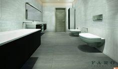 Interior design ideas with floor tile Inspiration Wall, Bathroom Inspiration, Next Bathroom, Stone Tiles, Green Building, Porcelain Tile, Laundry Room, Tile Floor, Toilet