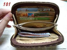 Really nice zippered wallet sewing tutorial..