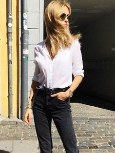 5 Chic Black-and-White Outfits to Copy Now. #streetstyle #outfits
