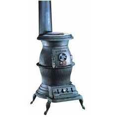Cast Iron Pot Belly Stove.  We had one of these in the kitchen after we finally got an electric stove to replace the cookstove.  I can remember many nights sitting in the dark by this and drinking coffee.  Those cold bitter nights, you could not let the fire go out or everything in the house would freeze.