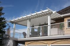 Our Hybrid Patio Covers combine the best of both pergolas and patio covers to give your deck a unique look, while still protecting it from the rain and snow. Calgary, Pergola, Deck, Outdoor Structures, Patio, Cover, Outdoor Decor, Terrace, Decks