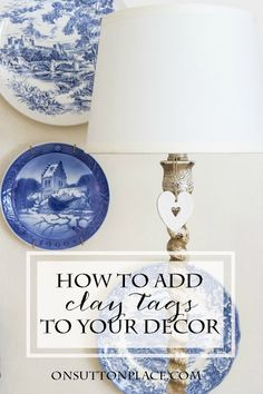 How to Use Clay Tags | Ideas and inspiration for adding clay tags to your decor. Includes tons of pics for other ways to use them as well!