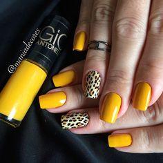 Best Nail Designs of 2019 - Latest Nail Art Trends - Sayfa 27 / 28 - Fashion & Beauty Great Nails, Fun Nails, Winter Nails, Summer Nails, Yellow Nail Art, Animal Nail Art, Nailart, Latest Nail Art, Manicure Y Pedicure