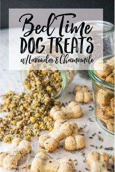 Looking for a little help getting your pooch to calm down at the end of the day? Does your fur-baby need a little coaxing to relax at bedtime? Sounds like Fido needs one of my grain-free, Chamomile Lavender Bedtime Dog Biscuits! Puppy Treats, Diy Dog Treats, Healthy Dog Treats, Dog Biscuit Recipes, Dog Treat Recipes, Dog Food Recipes, Dog Treat Icing Recipe, Homemade Dog Cookies, Homemade Dog Food