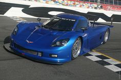 Corvette Daytona Race Car at Daytona Speedway (where else would they be).