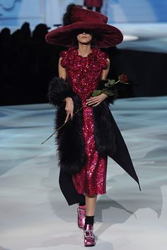 marc jacobs fall 2012. omg is this really happening?? im so excited big hats are back!