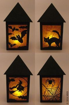 Halloween-Laterne-4-Seiten (Diy Halloween Lights)