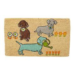 Spring Planting Pups Coir Doormat