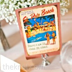 Use postcards from places that you've traveled. For more table number inspiration check out our blog http://bridalmentor.com/personalized-reception-ideas-table-numbers/.