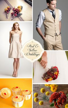 Example of bridesmaid dress matching groomsman suit/vest - then add the colours to the guys' tie and a wrap for the girls