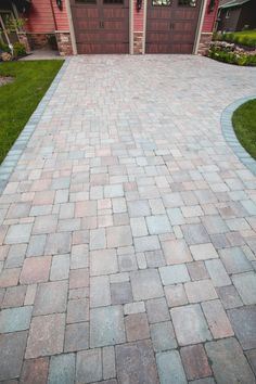 Permeable paver drive created by Backyard Reflections Garden Ideas Driveway, Driveway Pavers, Deck Fire Pit, Backyard, Patio, Ideas Para, Habitats, Shed, Outdoors
