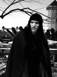 Anatoly Solonitsyn as Andrei Rublev.  Andrei Tarkovsky - Andrei Rublev (1966).