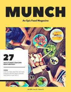 Use this customizable Yellow and White Food Magazine template and find more professional designs from Canva. Food Magazine Layout, Magazine Cover Layout, Magazine Layout Design, Magazine Covers, Best Slider, Typography Magazine, Food Concept, Dog Snacks, Food Design