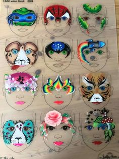 Face Painting Boards – F. Face Painting Stencils, Girl Face Painting, Face Painting Designs, Paint Designs, Painting For Kids, Face Paintings, Easy Homemade Face Masks, Homemade Face Paints, Homemade Paint