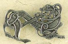 Viking animal brooch.
