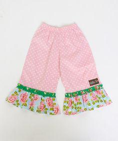 Look what I found on #zulily! Matilda Jane Clothing Primrose Ruffle Pants - Infant, Toddler & Girls by Matilda Jane Clothing #zulilyfinds
