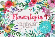 Flowertopia by Mia Charro on @creativemarket