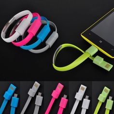 New Bracelet Wristband USB Data Charger Cable For Android Samsung LG Sony 5Color
